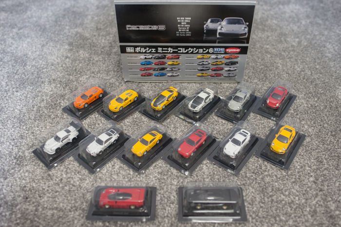 Kyosho - Scale 1/64 - Lot with 14 models: 14 x Porsche