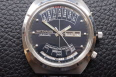 Wittnauer Perpetual automatic Multi-year Calendar – Men's wristwatch, blue dial – 1970