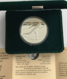 Canada - 20 Dollars 1986 'Calgary 1988 Olympic Winter Games – Cross Country Skiing' – 1 oz silver