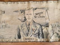 Lindbergh tapestry wall hanging commemorating the famous Solo Atlantic crossing just 90 years ago