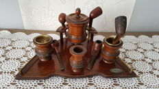 Smoker set of boats or other..., all mahogany