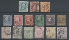 The Netherlands 1852/1871 - King Willem III and Crest Stamps - NVPH 1/3, 7/12, 13/18