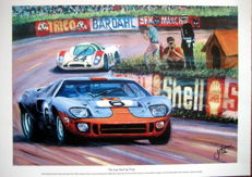 "Fine Art : ""The Last Shall be First"" - Gulf-Ford GT40 #6 - Le Mans 1969 - Ickx/Oliver"