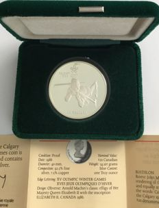 Canada - 20 Dollars 1986 'Calgary 1988 Olympic Winter Games – Biathlon' – 1 oz silver
