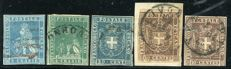 Tuscany, 1857–1860 — Lot of 5 stamps