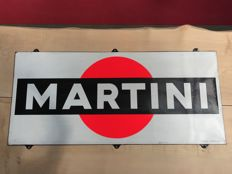 Enamel sign Martini Fluo