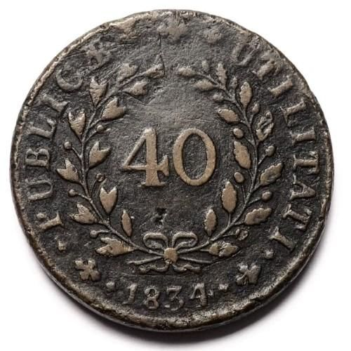 Portugal – 40 Réis from 1834