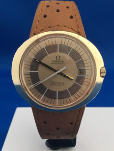 Omega — Geneve Dynamic - Gold plated- Golden dial - Automatic  - cal 565— 1970-1979