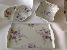 Exclusive hand painted fine porcelain set