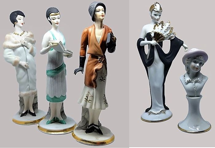 Armani Giuseppe - Ceramic Lady Figurines, Gatsby Lady (5x)