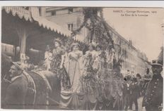 very good lot of 60 old postcards of nancy historical parade 1909 exhibition of nancy 1909