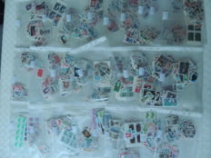 France – lot of 2800 stamps, face value of 2000 Francs, pouches of 100