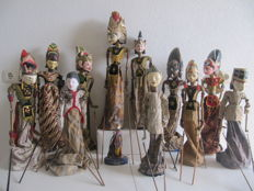 Twelve unique and diverse wayang golek puppets – Java – Indonesia