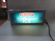 Illuminated advertising Smirnoff - Belgium - from around 1998.