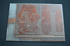 Book objects; Vintage printing plate, depicting precolumbian artifacts - 125 x 175 mm
