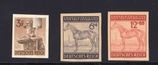 German Reich 1943 - proofs - Michel no. 850 U, 857 P and 858 P