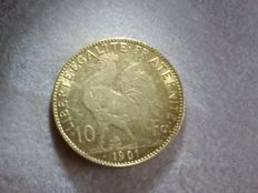 France - 10 Francs 1901 'Marianne' - Gold