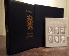 """Belgium 1935/1993 - 2 thematic collections """"KING BOUDEWIJN"""" in DAVO LX-Album with collection """"170 years KINGDOM BELGIUM"""""""