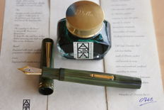 Very Rare Limited Edition 18K Delta Astra Fountain Pen in Green Ebonite