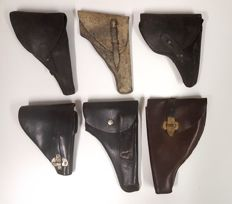 Lot of 6 different gun holsters