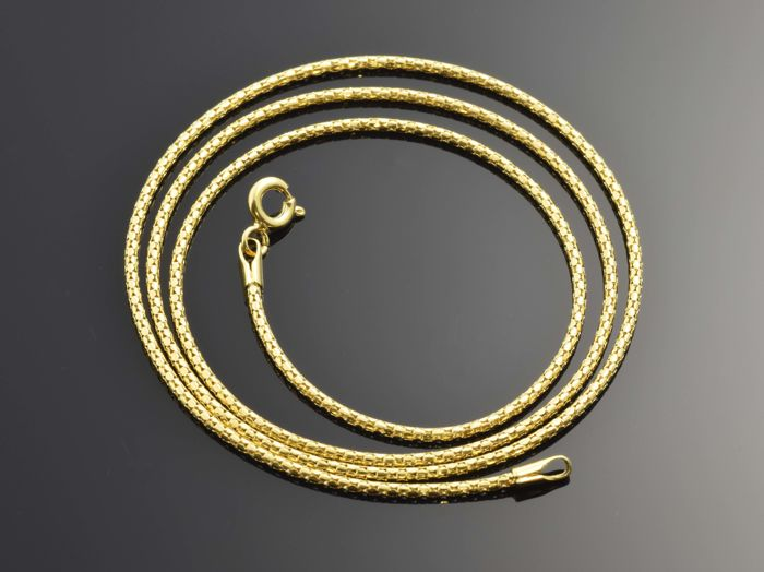 18k Gold Chain Choker Necklace - 44.5 cm • No reserve price •