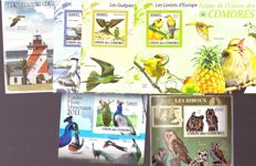 Thematic - collection on BIRDS with serrated and non-serrated blocks