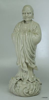 Beautiful statue Chinese monk Blanc de Chine - China - second half 20th century