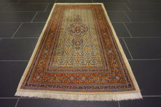 Beautiful Persian carpet, Moud Mut, 77 x 145 cm, made in Iran, end of the 20th century.