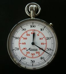 Minerva stopwatch —  1/100 Th min + 30 min. 1940´s