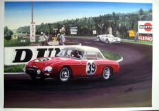 Fine Art : MGB #39 at Le Mans