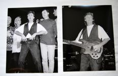 Paul Mc Cartney - 2 original press photos 1989 USA start World Tour