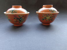 Two bowls with lid - China - late 19th/early 20th century