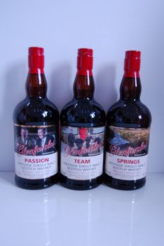 3 bottles - Glenfarclas Trilogy Passion, Team & Springs