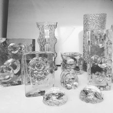 Very large set of signed vintage glass