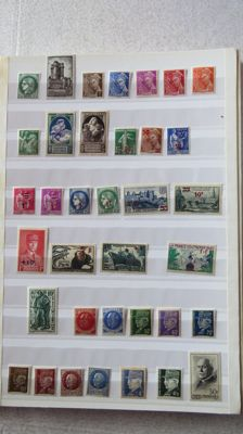 France 1938/1974 – Collection of postal, air mail, pre-cancelled stamps and FM.
