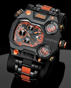 Zeitlos Switzerland - Zeitlos T1 Carbon Black Orange Steelband ZL-T1  - Referenz ZL-T1 - Uomo - 2011-presente