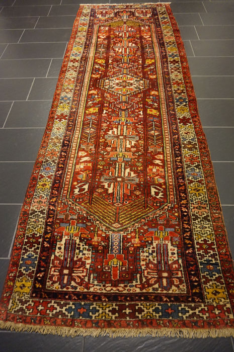 Old high-quality Persian carpet - Malayer - Hamadan - runner - XXL - made in Iran - 112 x 330 cm