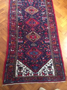 Hand-knotted Persian Taleghan runner 530 x 115 cm.