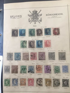 Collection from Belgium 1849/1894 - used collection starting from Mi. no. 1