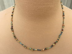 Egyptian necklace with faience beads - 53 cm