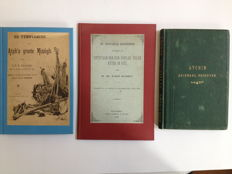 Indonesia Militaria; Atjeh; J.F.D. Bruinsma - De verovering van Atjeh's groote Missigit + 2 other works about the Aceh War - 1874 / 1889.