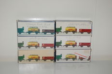 Piko H0 - 5 various freight wagons and 1 passenger carriage of the DB/DR/NS