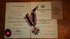 One person's medals and documents