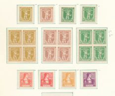 Switzerland 1909/1940 - Odds and ends on sheets
