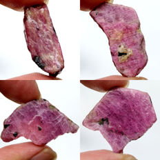 Lot of Purplish Pink Ruby - 93.96 ct (4)