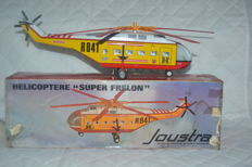 Joustra, France - Length: 40 cm - Tin Helicopter with friction drive, 70 years