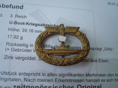 U boat war badge with expertise
