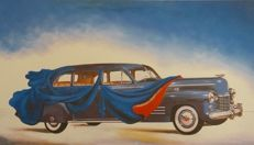 Salvador Dalí - (after) - Dressed automobile blue