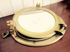 Authentic copper porthole with mirror
