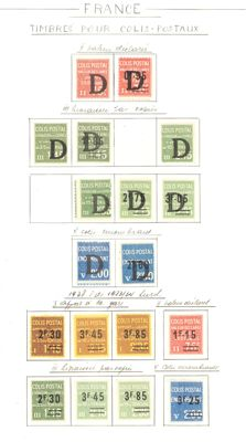France 1930/1945 - Lot of parcel post stamps - Yvert 98 to 220
